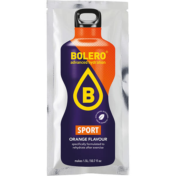 Bolero Instant Erfrischungsgetränkepulver 9 g Beutel SPORT ORANGE ISOTONIC für 1,5 l Getränk! Bolero Instant Getränkepulver Beutel für fertiges Getränk.