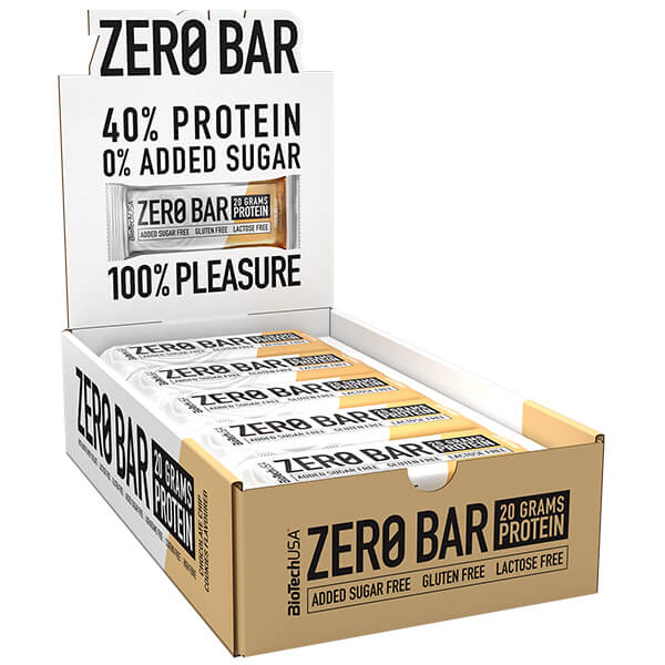 Biotech USA Zero Bar Schokolade-Chip Cookies Proteinriegel 20 x 50 g