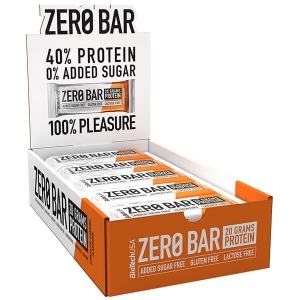 Biotech USA Zero Bar Schokolade-Karamell Proteinriegel 20 x 50 g