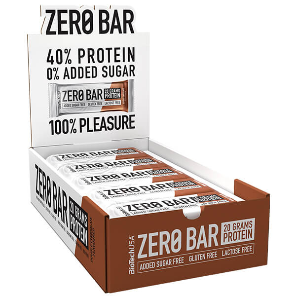 Biotech USA Zero Bar Double Chocolate Proteinriegel 20 x 50 g