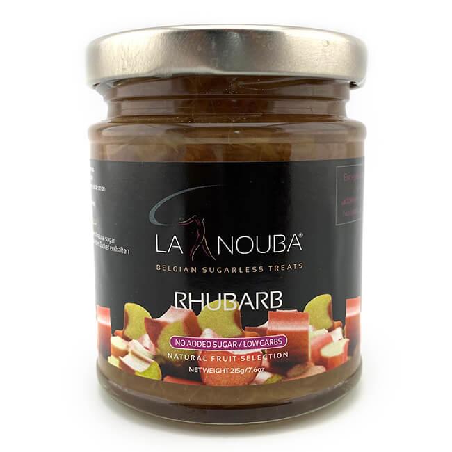 La Nouba Natural Fruit Selection Premium Fruchtaufstrich ohne Zuckerzusatz 215 g Rhabarber. Erlesene Früchte verarbeitet in einem feinen Fruchtaufstrich.