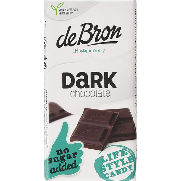 De Bron Low Carb Schokolade Zartbitter ohne Zuckerzusatz 85 g Tafel kaufen. Köstliche Zartbitterschokolade ohne Zuckerzusatz. Herzhafte Low Carb Schokolade.