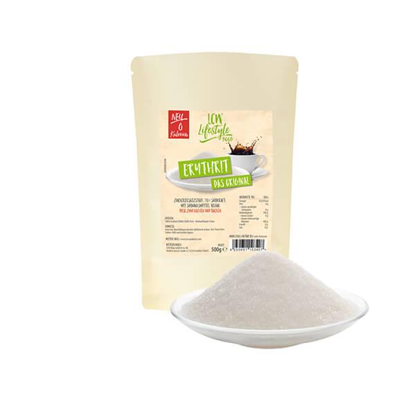 LCW Erythrit Original kalorienfreier Zuckerersatz Zuckeraustauschstoff 500 g Beutel. Idealer Zuckerersatz ohne Kalorien.