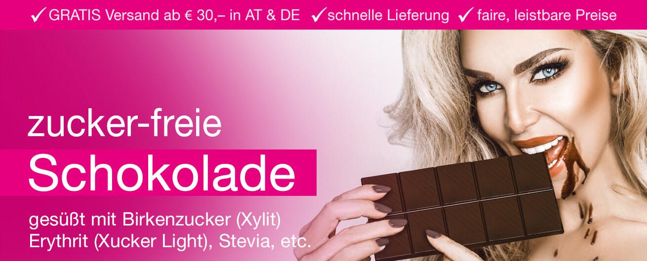 Zuckerfreie Schokolade kaufen im Zuckerfrei Online Shop. Xucker Schokolade mit Xylit gesüßt, Birkengold mit Birkenzucker gesüßt - im Zuckerfrei Shop