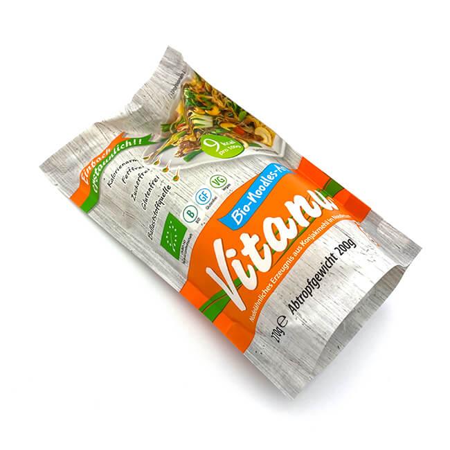 Vitanu Bio Konjak Nudeln kaufen nur 9 kcal / 100 g. Konjaknudeln bestellen 270 g. Kalorienarm, glutenfrei