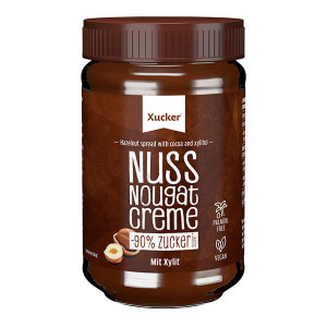 Xucker zuckerarme Nuss-Nougat Creme mit Xylit ohne Palmöl 300 g