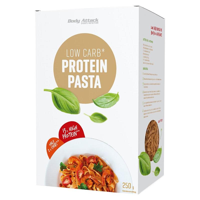 Body Attack Protein Pasta 250 g bestellen ➤ Proteinnudeln online kaufen ✓13 g Protein ✓nur 2 g Kohlenhydrate ✓5 Portionen Eiweiß Nudeln / Protein Nudeln.